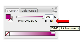 Converting Spot Colour to CMYK
