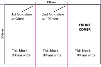 How to design an A4 folded leaflet fig. 1