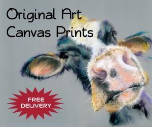 Original art canvas prints banner by Migglet